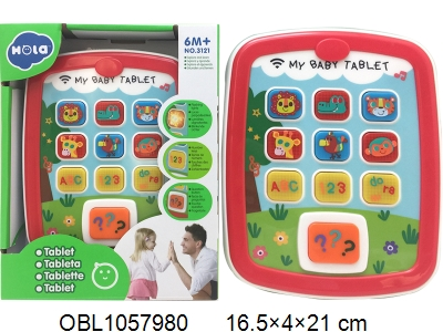 OBL1057980 - Tablet phone with light and music 3 * AAA without power package