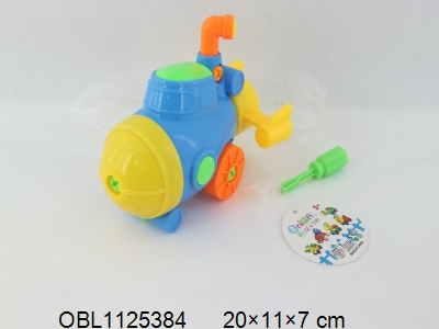 OBL1125384 - Dismantling and assembling cartoon submarine with 4-color mixing