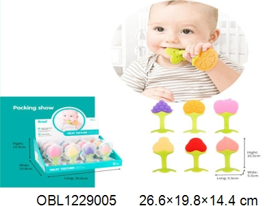 OBL1229005 - 12 baby silicone teeth in 1 display box