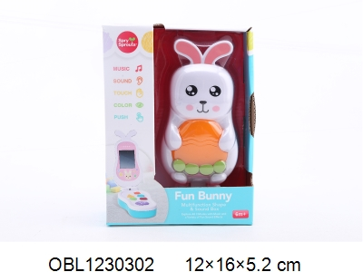 OBL1230302 - Rabbit mobile phone with light and sound 2 * AAA without power pack