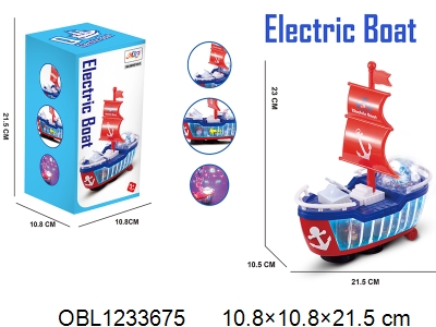 OBL1233675 - Electric universal boat with light music 3 * AA without power package