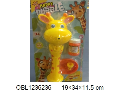 Electric giraffe bubble gun with 1 bottle of bubble water 2 * AA without battery pack