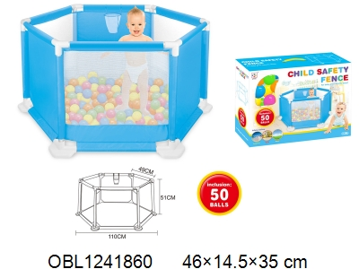 OBL1241860 - Children throw basketball pool with 50 ocean balls