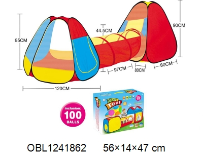 OBL1241862 - Children s tent with 100 ocean balls