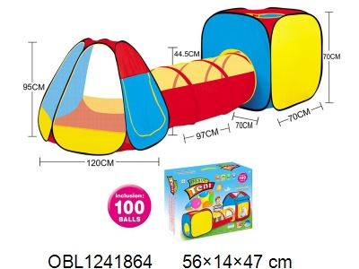 OBL1241864 - Children s tent with 100 ocean balls