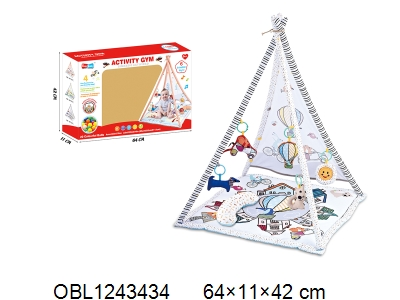 OBL1243434 - Children s tent with music and 20 ocean balls 2 * AAA without power package