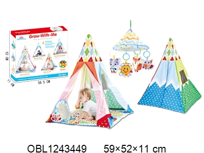 OBL1243449 - Children s tent with music and 20 ocean balls 2 * AAA without power package