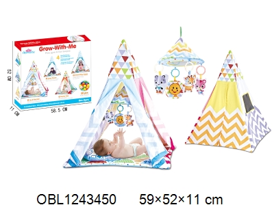 OBL1243450 - Children s tent with music and 20 ocean balls 2 * AAA without power package