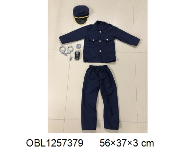 OBL1257379 - Police suit walkie talkie with music 2 * AA without power pack