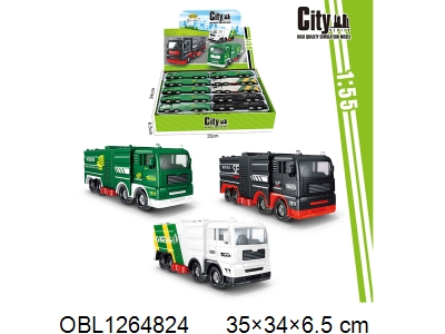 OBL1264824 - Three types of taxiing city vehicles, 10 in each and 1 display box