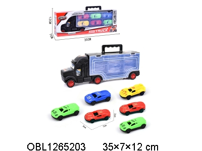 OBL1265203 - Six taxiing sports cars with sliding head