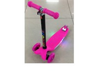 OBL039092Y - PU wheel lamp base plate with lamp and music high pink scooter