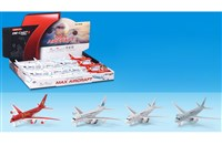 OBL1127079 - Alloy Return Aircraft with Lighting Pack Electricity 4-color Mixed Pack 24 with 1 Display Box