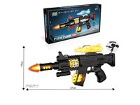 OBL1266098 - Electric gun with light, sound and strap no function aircraft 3 * AA without power pack
