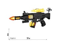 OBL1266100 - Electric gun with light, sound and strap no function aircraft 3 * AA without power pack